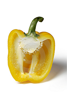 Half yellow pepper