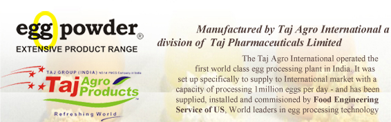 egg powder manufacturer india, usa taj agro