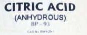 Citric Acid Monohydrate (CAS number 77-92-9 )